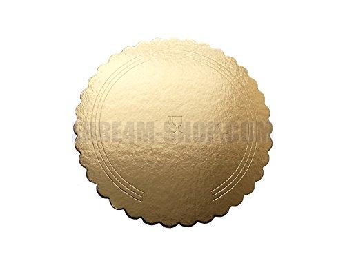 Erretre srl Disco sottotorta in Cartone festonato da Diametro 20 cm Oro/Nero 5 Pezzi