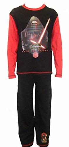 Star Wars Kylo REN – Camiseta de Pijama Negro Negro 4-5