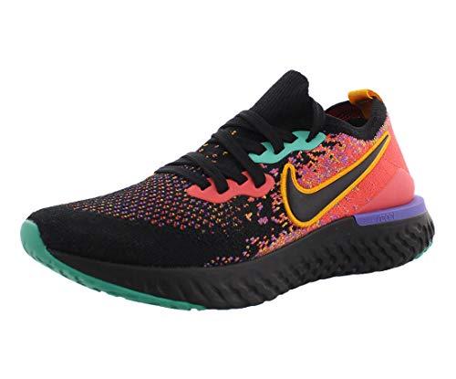 Nike Women's Epic React Flyknit 2 Running Shoes (Black/Yellow/Purple, Numeric_7)