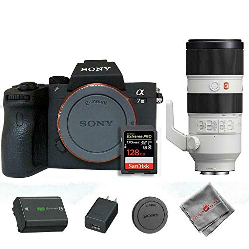 Lowest Prices! Sony A7 III with Sony 70-200mm GM Lens and 128GB SD Card (International Model)