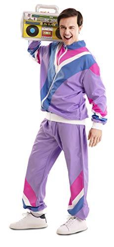 EUROCARNAVALES Disfraz de Chándal de los 80 para Hombre Talla XL