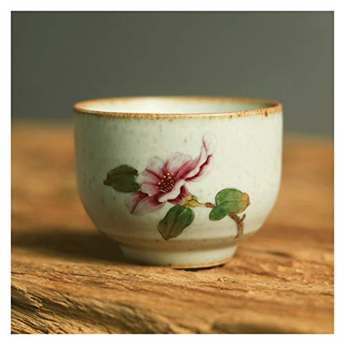 YANGYUAN Chinese Zen-inspired Teacups Multipurpose Ceramic Teaware Flower Tea Mug Porcelain Tea Cup Decorative Cups Use for Hot & Cold Drinks Gift Tea Cups (Color : B)