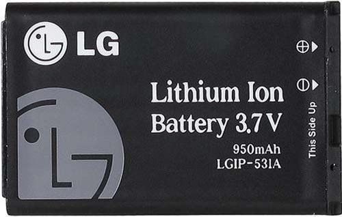 LG LGIP-531A 950mAh Replacement Battery For LG Feacher Flip Phones