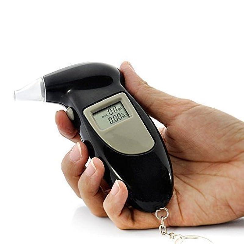 ウェーハ一生祖母YUANSHOP1 デジタル アルコールチェッカー 5個吹き込み口ノズル付属 アルコールテスター 探知器 ブレスチェッカー 飲酒運転 レッドLEDバックライト 呼吸式 (電池が付属なし)