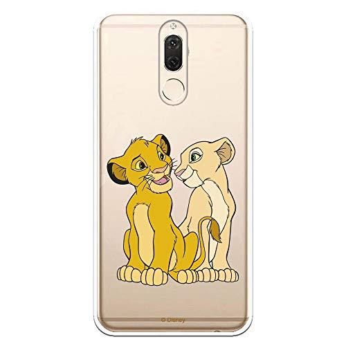 LA CASA DE LAS CARCASAS Funda Oficial Disney Simba y Nala Transparente para Huawei Mate 10 Lite - El Rey León