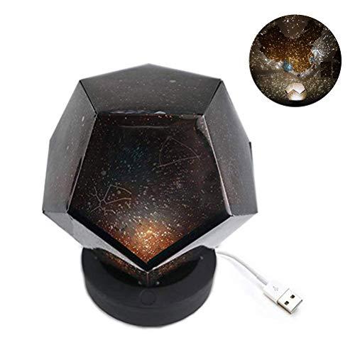 Starry Sky Lámpara de proyección Dodecaedro Giratorio Proyector romántico Luz Nocturna para Fiesta Vivero Navidad