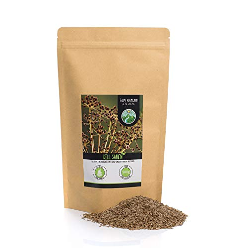 Semillas de eneldo (500g), semillas de eneldo 100% naturales, pepino, por supuesto, sin aditivos, vegano