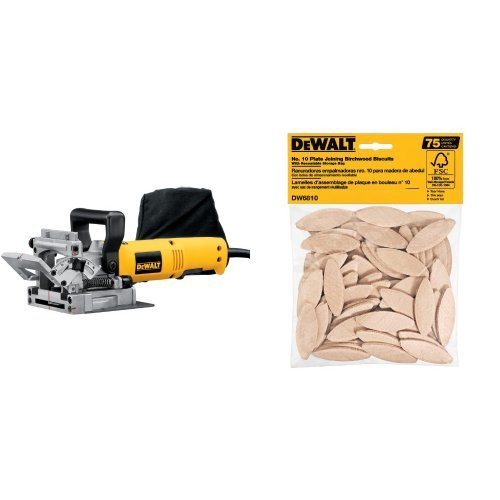 Great Deal! DEWALT DW682K 6.5 Amp Plate Joiner with No. 10 Size Joining Biscuits (75 Pieces)