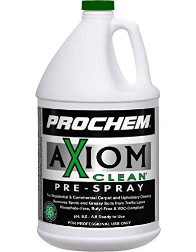 Prochem Axiom Clean Pre-Spray for Professional Carpet Cleaning with Hot Water Extraction, Concentrate, 1 gal, 4 (S717-4)