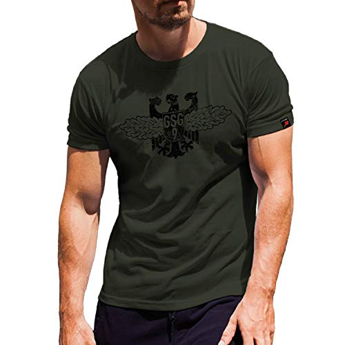 GSG 9 Bundesgrenzschutz Bundespolizei Antiterror - T Shirt #8444, Farbe:Oliv, Größe:Herren M