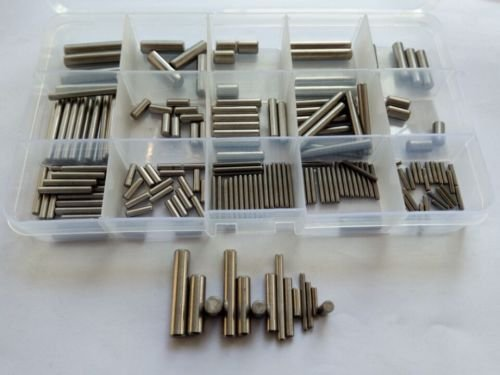 180pcs M2 M3 M4 M5 M6 Stainless Steel Cylindrical Pins Solid Locating Pin Assortment Set