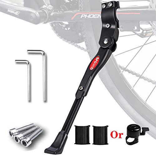 SPGOOD Fahrradständer für 24-28 Zoll Faltbarer Einstellbarer Universal Ständer,Ständer mit Anti-Rutsch Gummifuß Aluminiunlegierung,für Mountainbike,Rennrad,Fahrräder und Klapprad,höhenverstellbar