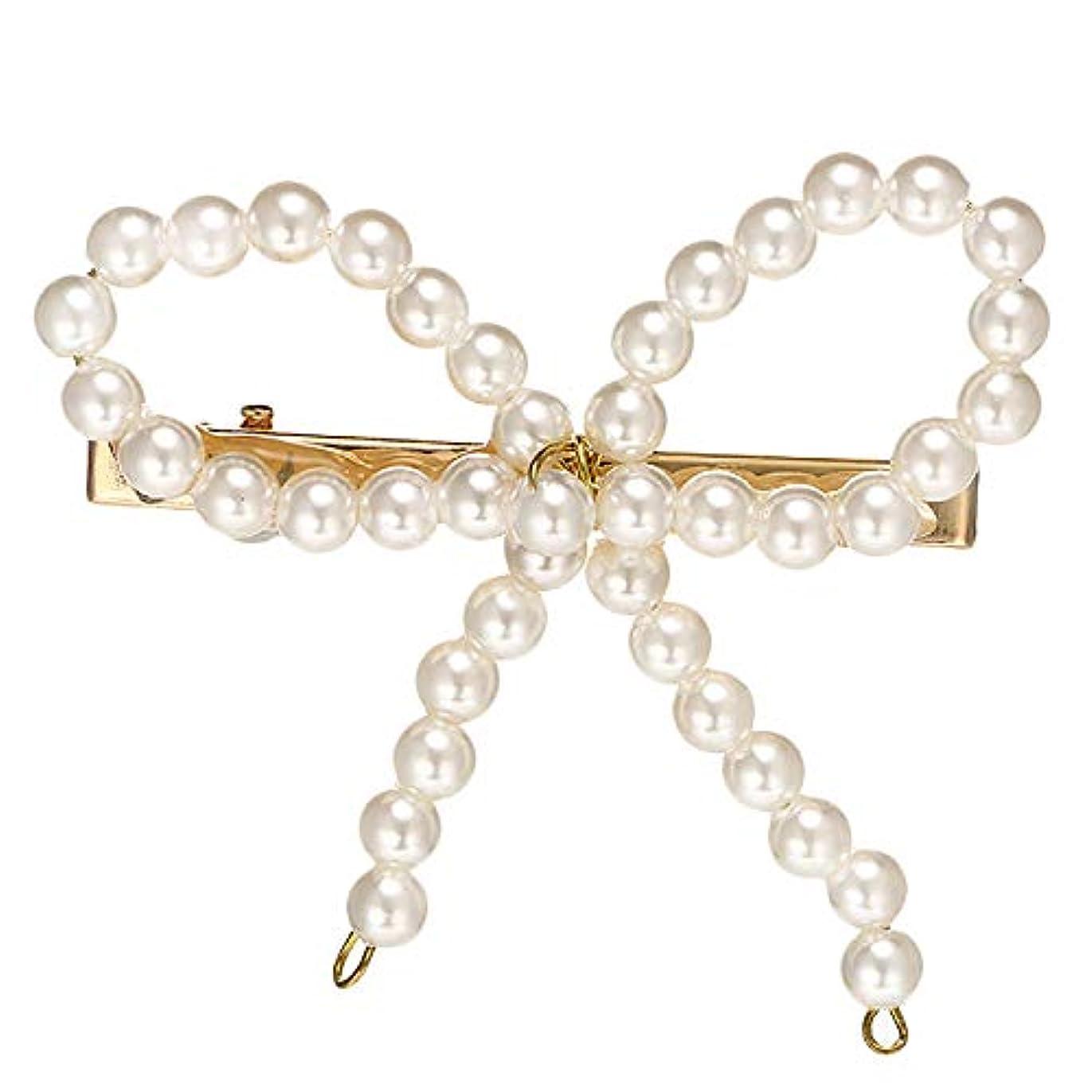 命題発行コテージTOOGOO 韓国バージョンのファッション甘い模造真珠のボーダッククリップガール気質ヘアピン