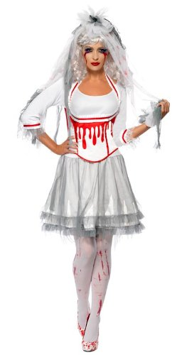 FEVER- Halloween Ropa, UK Dress 8-10 (Smiffy's 38890S)