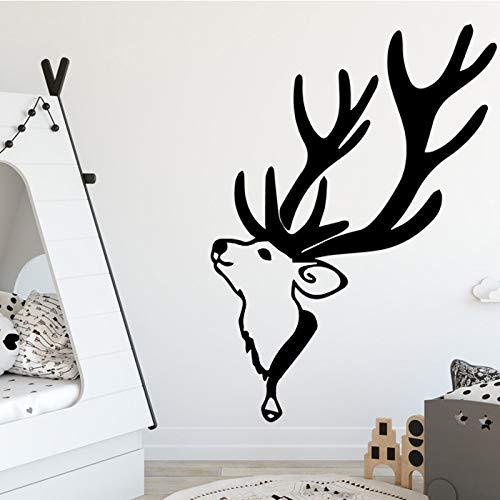 GJQFJBS Cartoon bier giraffe wandaufkleber kinder dekoration vinyl wohnzimmer wasserdicht wandtattoo PVC dekoration Grau 43x59 cm