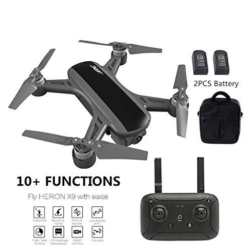 Dapei JJRC X9 mit HD Kamera 1080P 5G WiFi FPV RC Quadrocopter Live übertragung GPS Drohne mit LED für Anfänger, mit Zubehör Kit und Handtasche (Schwarz)