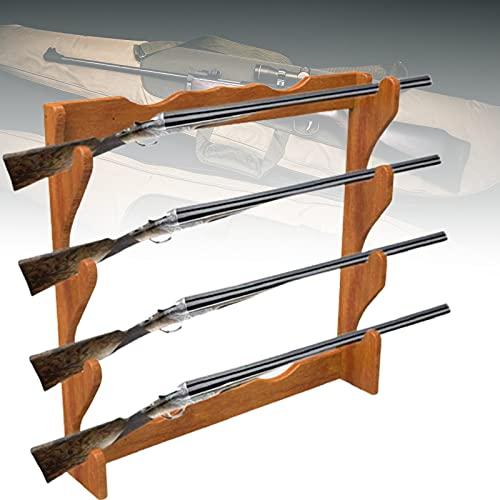 ZPCSAWA Soporte para Armas, Montaje en Pared Exhibidores de Sujeción Soporte Horizontal para Armas y Ganchos de Escopeta Almacene Cualquier Rifle Escopeta Espada Sable Madera Dura