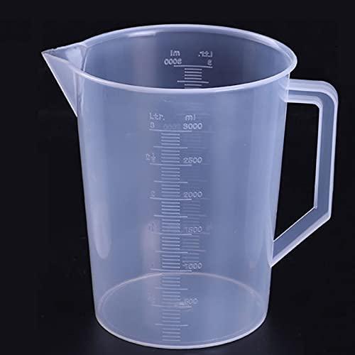 DPFXNN Misurino in Plastica - Grande Contenitore Di Misurazione - Grande Misurino per Piscina per Prodotti Chimici Utilizzato Anche per Misurare L'olio Motore, Cucina, Sala Da Pranzo (101oz)