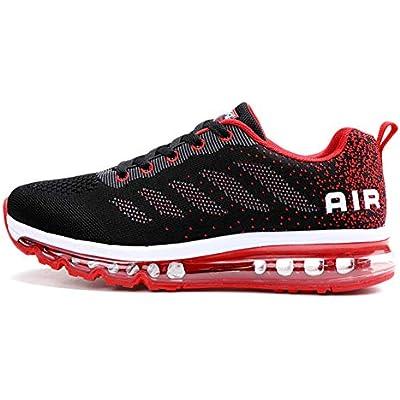 Axcone Zapatillas Hombres Mujer Deporte Running Zapatos para Correr Gimnasio Sneakers Deportivas Padel Transpirables Casual 833 RD 38EU