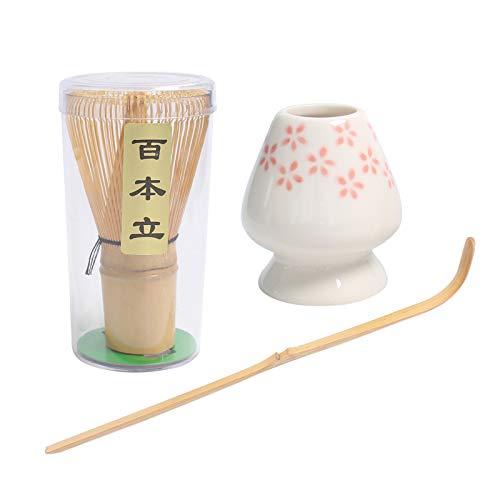 Fenteer Juego de Batidores de Té Matcha de Estilo Japonés Todo en 1, Regalo para Amantes del Té, Fácil de Usar - Flor, 70x70x195mm