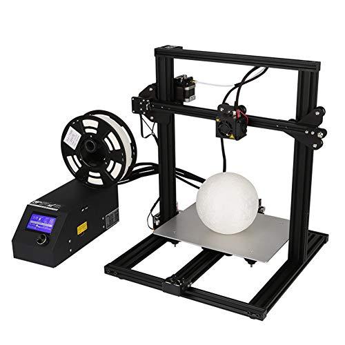 Imprimante 3D Creality Série CR-10 Aluminium Semi-Assemblé 3D Printer Prusa I3 Structure Bois Imprimante 3D DIY Grande Taille d'impression 300 * 220 * 300Mm