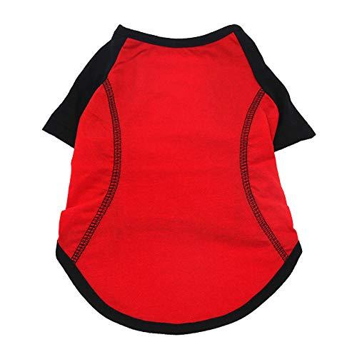 ZLXUEFL Hundeshirthundet-Shirthaustierkleidunghundekleidungwestent-Shirthundekleidungshemd Sportbekleidung Kleine Mittelgroße Und Große Hunde Einfarbige Hundesportbekleidung@Rot_Xs
