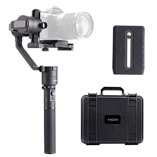 MOZA AirCross Gimbal Estabilizador Reflex 3 Ejes, 12 Horas de Tiempo de ejecución con Fuente de alimentación Inteligente para cámaras sin Espejo Serie Sony Alpha A7, Serie Panasoni