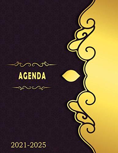 Agenda 2021-2025, Agenda Mensual de 60 Meses, Agenda de Bolsillo 2021/2025, Calendario de cinco años, Organizador de lista de tareas pendientes, Administrador de contraseñas...160 Páginas