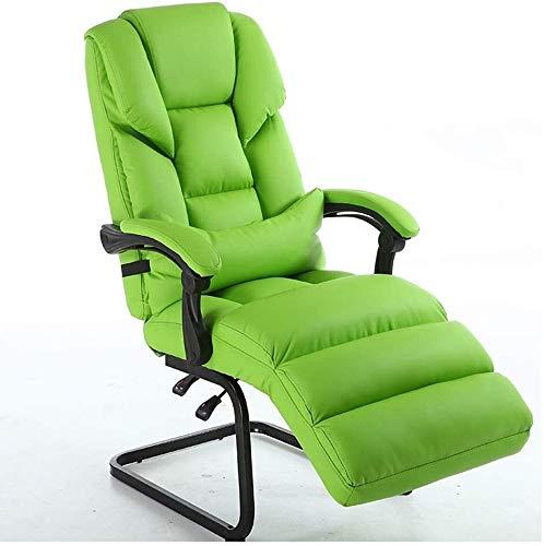 Rollsnownow Massage Bürostuhl hohe Rückenlehne PU-Leder-Computer-Schreibtisch Bürodreh Lehnstuhl mit ausziehbarem Fußstütze und Verstellbarer Lendenwirbelstütze Sessel (Size : Wine Red)