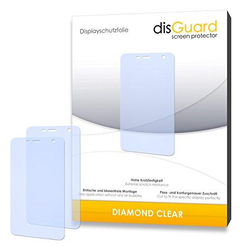 disGuard 2 x Bildschirmschutzfolie Wiko Bloom Schutzfolie Folie DiamondClear unsichtbar