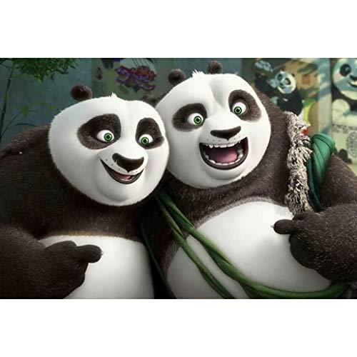 puzzles Película Kung Fu Panda 3 Madera 1000 Piezas Rompecabezas para Adultos Juguete Educativo De Descompresión para Niños(Color:si)