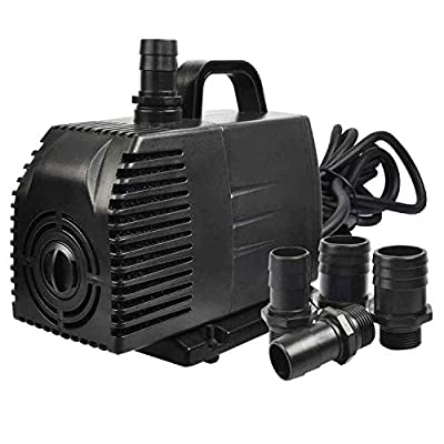 Simple Deluxe 1056 GPH Submersible Threaded Nozzles Water Pump for Fountains, Ponds, Aquariums and Hydroponics, Black