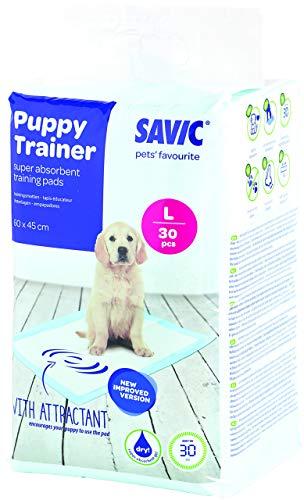Savic Ersatzpads für Puppy Trainer-Hundetoilette, Größe L, 60 x 45 cm, 30 Stück