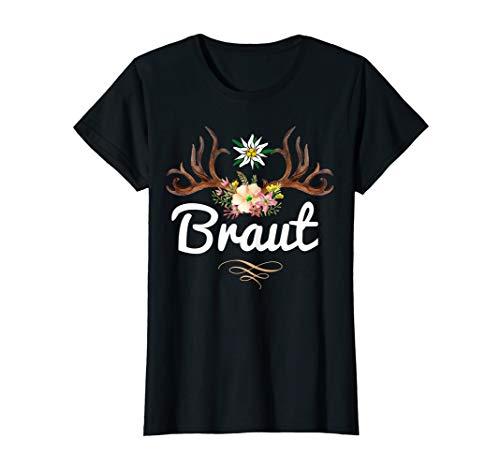 Damen Braut Bride JGA Frauen Junggesellinnenabschied lustig Bayern T-Shirt