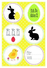 weinkarton24 Adesivi a Forma di Coniglio, per Pasqua