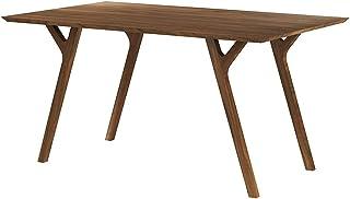 Selsey Hansie - Table Salle à Manger - 150x90 cm, Bois de Noyer, Bois Massif - Style Moderne