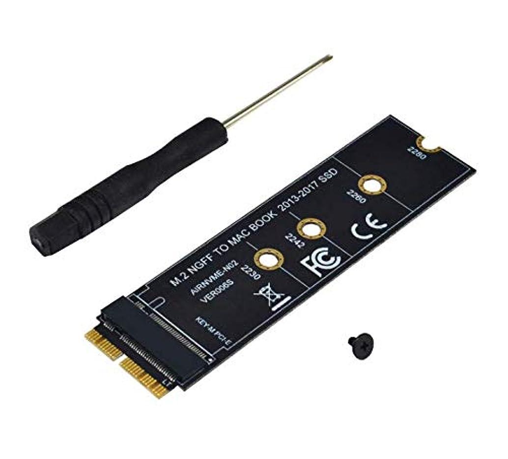 スチュワードお香分離するArestech M.2 NVME SSD 変換アダプタ MacBook Air Pro Retina Mid 2013-2017用 NVME/AHCI SSD アップグレードキット A1465 A1466 A1398 A1502用 標準サイズ