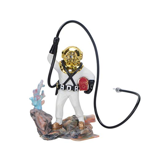 POPETPOP Fish Tank Decorations Scuba Diver Ornament - Aquarium Undersea Treasure Diver Resin Craft for Desktop Decorations Fish Tank Landscape