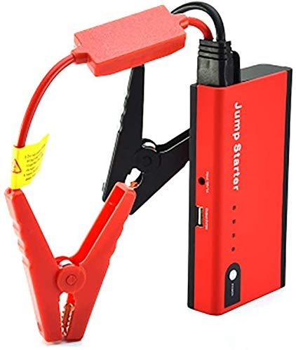 Metdek Arrancador de batería portátil para coche, 350 A 8000 mAh, USB, mini fuente de alimentación de emergencia para coche, con linterna LED/cable tipo C, paquete de refuerzo de batería