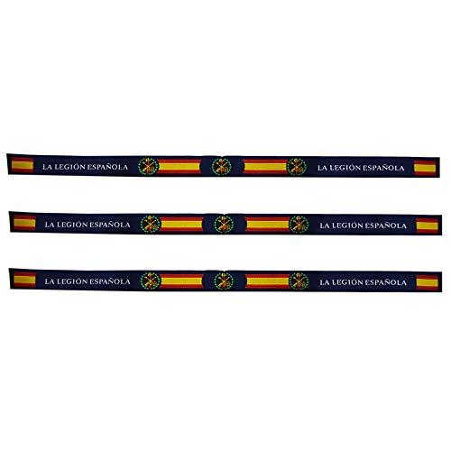 ALBERO 3 x Pulsera Legión Española Tela. 3 Unidades. 29 x 1.5cm. Ejército Español
