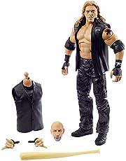 Figura de acción WWE Edge Wrestlemania con Chaleco de Entrada, Bat & Paul Ellering & Rocco Build-A-Figure Piezas, 15,24 cm Posible Regalo Coleccionable para los Fans de la WWE a Partir de 8 años