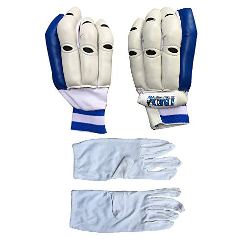 Ibex Basic Batting Gloves Batting Gloves Combo with Inner Gloves (Men, White)