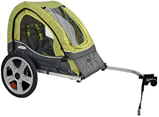Pacific Cycle InStep Sync Single Bicycle Trailer, Green/Gray (Renewed)