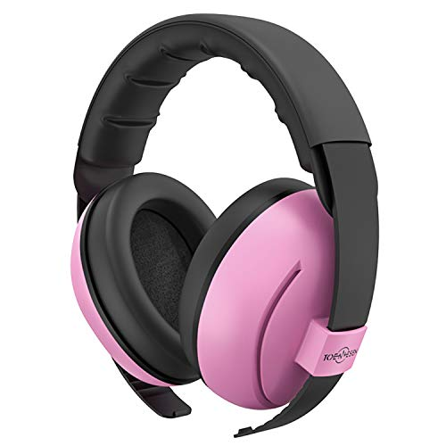 Baby Ear Protection TOENNESEN Noise Cancelling Headphones for 3 Months to 3 Years, NRR 34dB Noise Reduction Ear Muffs. The Most Comfortable Ear Protection for Toddlers/Babies. (Pink)