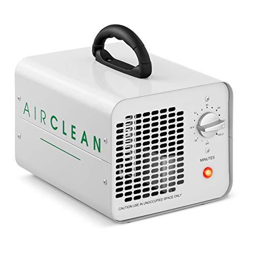 Ulsonix Generatore die Ozono professionale AIRCLEAN 10G-WL Purificatore d'aria Ozonizzatore (10.000 mg/h, 100 W, Timer da 120 m, Alluminio Verniciato a Polvere)