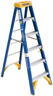 blue fiberglass ladder