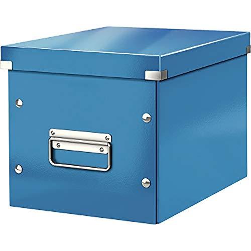 Leitz Caja de almacenaje cúbica, Tamaño mediano, Azul, Click & Store, 61090036