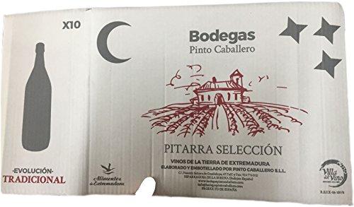 Caja de 10 botellas PET x 1,5 litros de vino pitarra tinto elaborado de forma tradicional en Extremadura