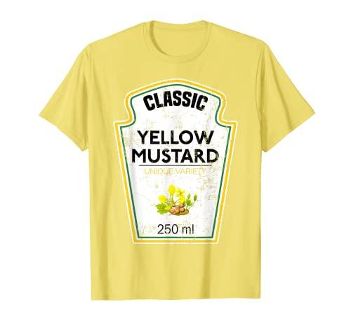 Traje amarillo mostaza para parejas, grupos, condimentos Camiseta