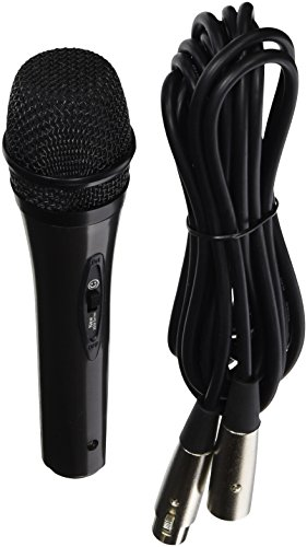 Alphasonik Professional Grade Universal Cardioid Multi-Directional Moving Coil Dynamic Handheld Vocal Microphone Internal Shock Absorber Filter On-Stage Studio, Home, Party, Karaoke with On/Off Switch